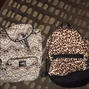 2 vs pink backpacks